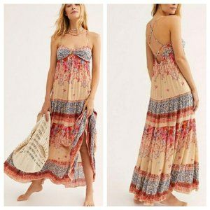 """Free people BNWT """"Give a Little Maxi"""" dress small"""
